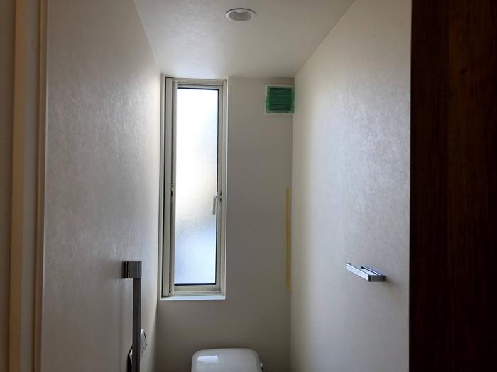 トイレの換気扇を塞いでいます。郡山市田村町Y様邸| 郡山市 新築住宅 大原工務店のブログ