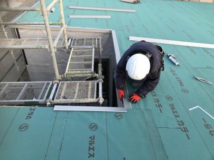 唐草の取付です。|郡山市 新築住宅 大原工務店のブログ