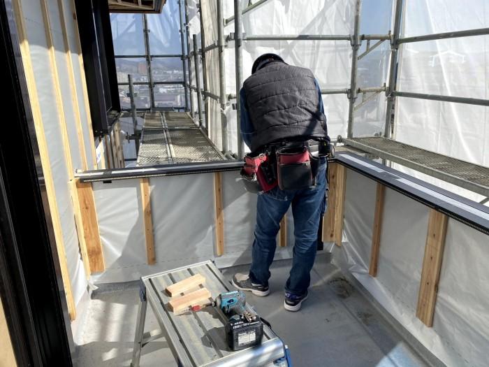 外壁の下準備です 郡山市深沢 |郡山市 新築住宅 大原工務店のブログ