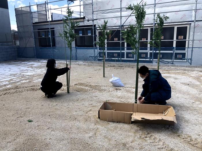 地鎮祭の準備をしています。須賀川市森宿 W様邸| 郡山市 新築住宅 大原工務店のブログ
