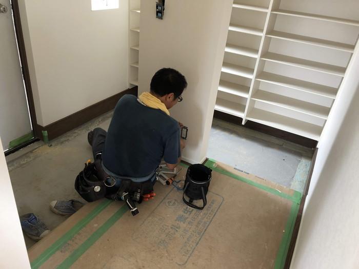 電気屋さんの仕上げ工事です。|郡山市 新築住宅 大原工務店のブログ