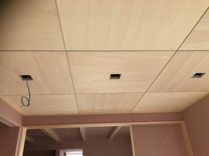 和室の天井はシナの目透しで仕上げてます。郡山市大槻町| 郡山市 新築住宅 大原工務店のブログ