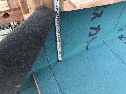 雨押えの高さ300mm以上です。|郡山市 新築住宅 大原工務店のブログ