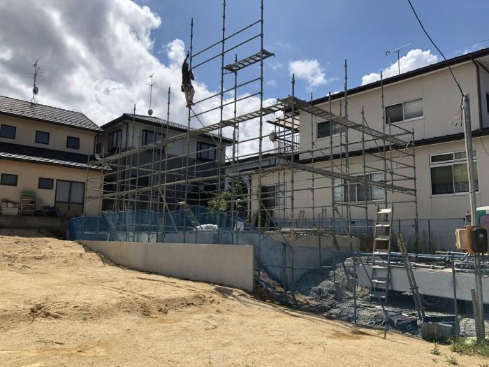 先行足場です。|郡山市 新築住宅 大原工務店のブログ