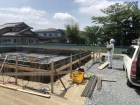 配筋検査、まずは前景写真から|郡山市 新築住宅 大原工務店のブログ