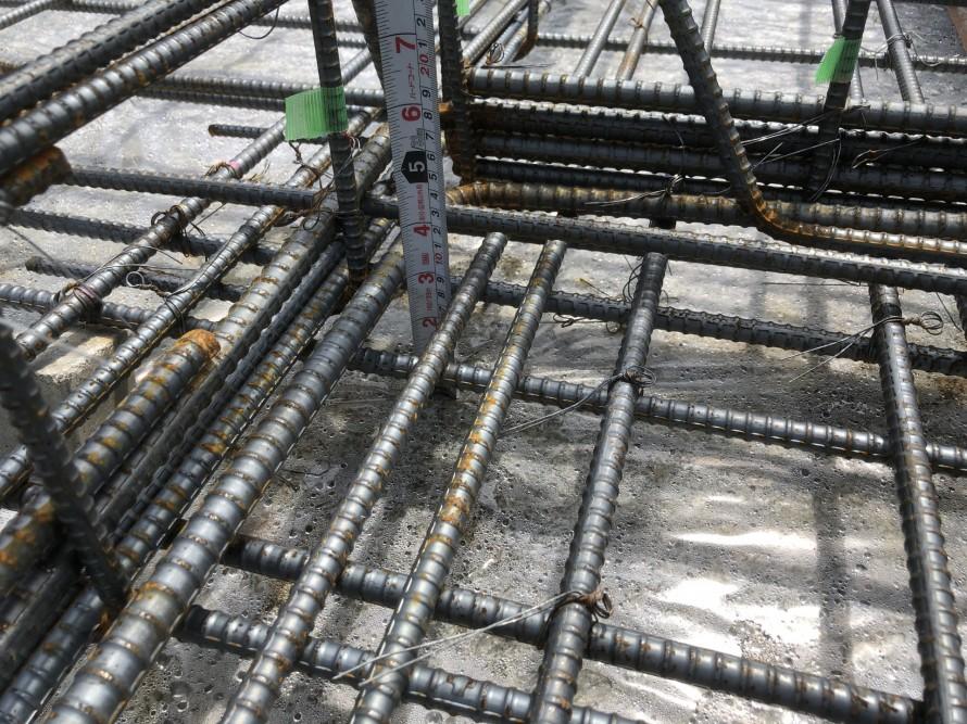 配筋検査、かぶり厚も確認|郡山市 新築住宅 大原工務店のブログ