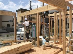 上棟の様子です。|郡山市 新築住宅 大原工務店のブログ