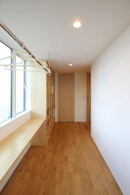 新築注文住宅O様邸 室内干しができるフリースペースです。郡山市安積町|郡山市 新築住宅 大原工務店のブログ