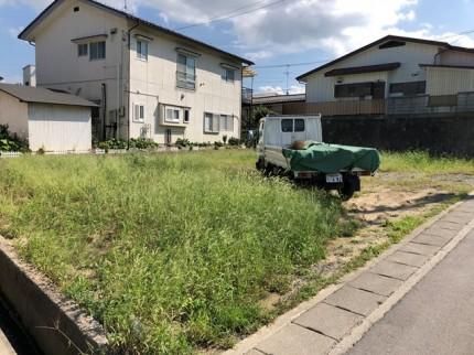 地鎮祭前の草刈です。