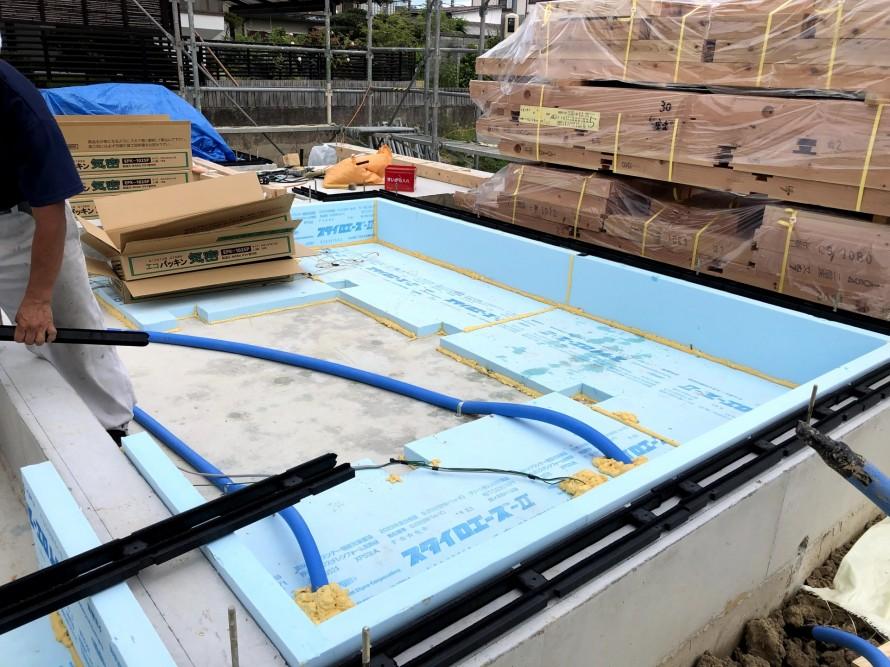スタイロホーム3種Bの60mmを基礎断熱に採用。|郡山市 新築住宅 大原工務店のブログ