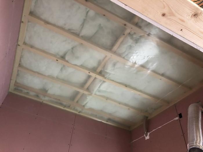 気密シートはパンパンです。|郡山市 新築住宅 大原工務店のブログ