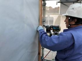 外壁の下地施工です。 郡山市 新築住宅 大原工務店のブログ