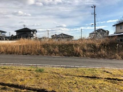 敷地調査の全景写真です。|郡山市 新築住宅 大原工務店のブログ