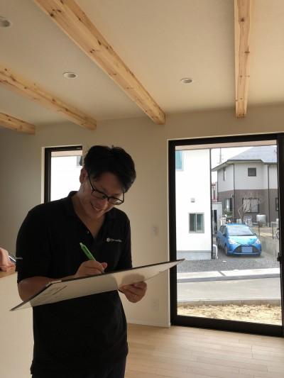 Y様邸 キズチェック。|郡山市 新築住宅 大原工務店のブログ