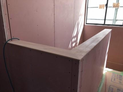 階段笠木をカッコ良くしてます。本宮市葭ヶ入|郡山市 新築住宅 大原工務店のブログ