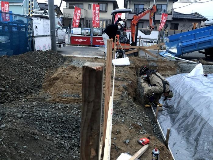 全長を計測します 郡山市喜久田町 |郡山市 新築住宅 大原工務店のブログ