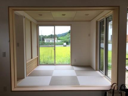 W様邸、和室の様子です。田村市船引町|郡山市 新築住宅 大原工務店のブログ
