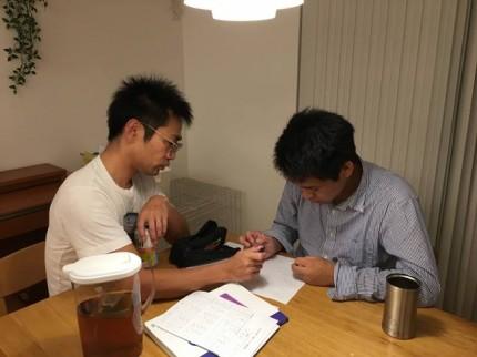 圭太郎と勉強です。