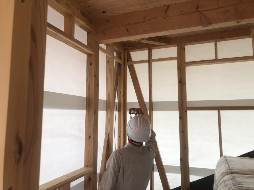 筋違確認、シナコーナーを添えて|郡山市 新築住宅 大原工務店のブログ
