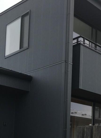 郡山市安積町のモデルハウス「ライフボックス」の外壁です。|郡山市 新築住宅 大原工務店のブログ