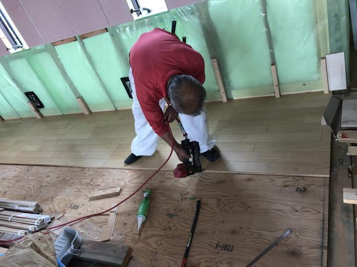 朝日ウッドテックのハードメイプル施工です。|郡山市 新築住宅 大原工務店のブログ