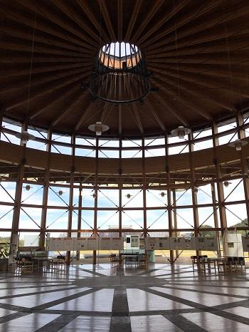 郡山市日和田町「福島県農業総合センター」エントランス