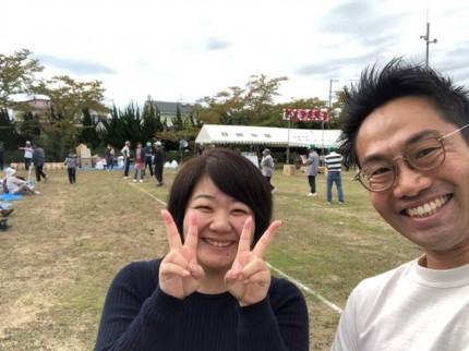 妻と記念撮影です。