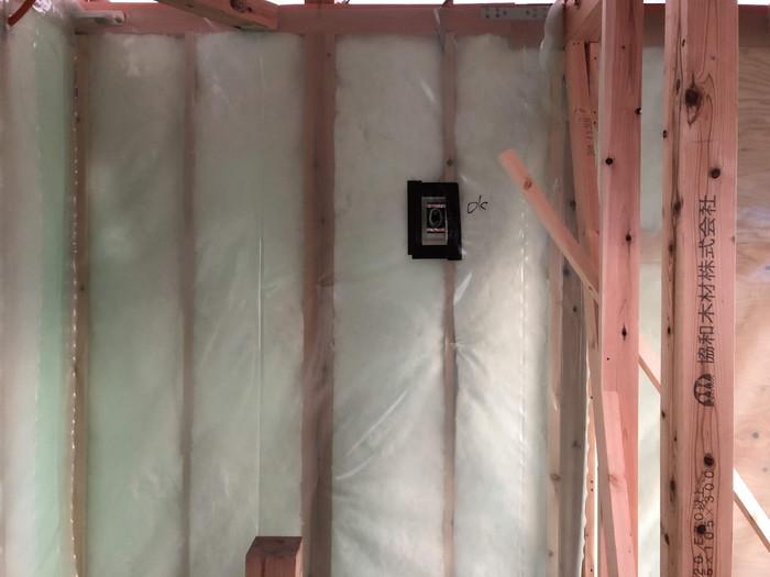 コンセントの気密検査です。|郡山市 新築住宅 大原工務店のブログ