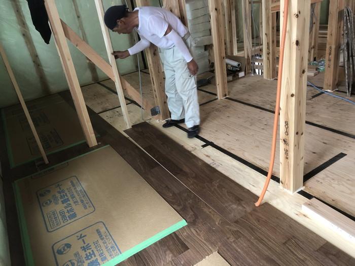 フローリング張りです。|郡山市 新築住宅 大原工務店のブログ