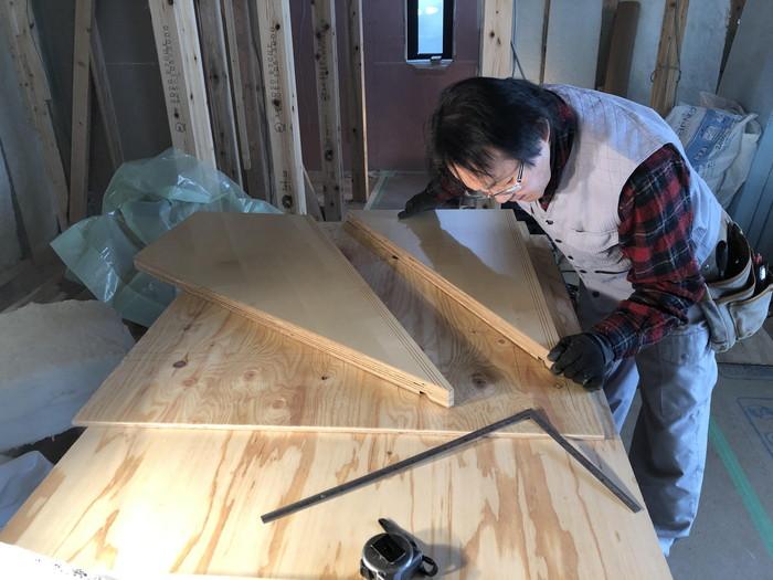 階段の施工中です。|郡山市 新築住宅 大原工務店のブログ