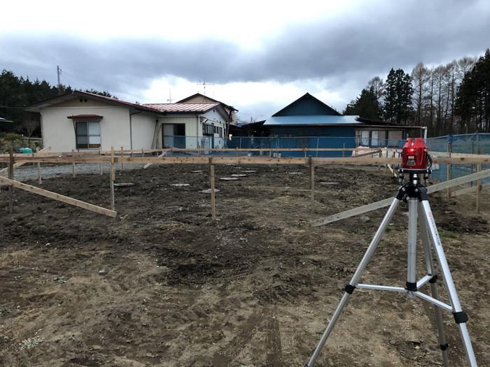 丁張の高さ検査です。|郡山市 新築住宅 大原工務店のブログ