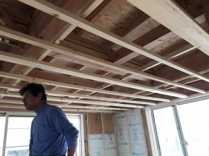 郡山市開成の新築住宅の天井下地施工 | 郡山市 新築住宅 大原工務店のブログ
