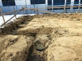 木材で囲った基礎の部分が丁張りです。須賀川市森宿| 郡山市 新築住宅 大原工務店のブログ