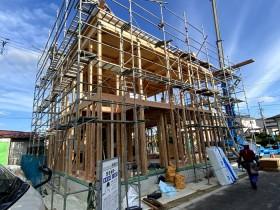 上棟した写真です。須賀川市森宿I様邸| 郡山市 新築住宅 大原工務店のブログ