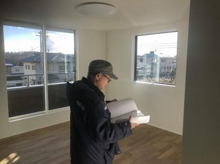 完了検査の様子です 郡山市田村町 |郡山市 新築住宅 大原工務店のブログ