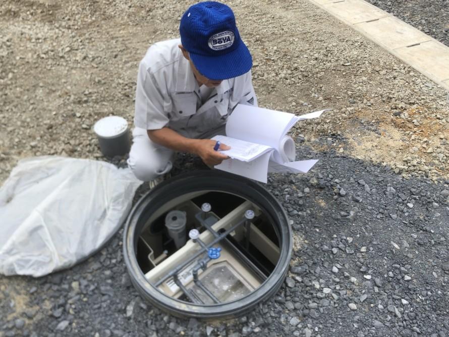 浄化槽も確認|郡山市 新築住宅 大原工務店のブログ