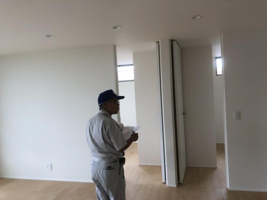 岩瀬郡鏡石町のH様邸新築工事で完了検査