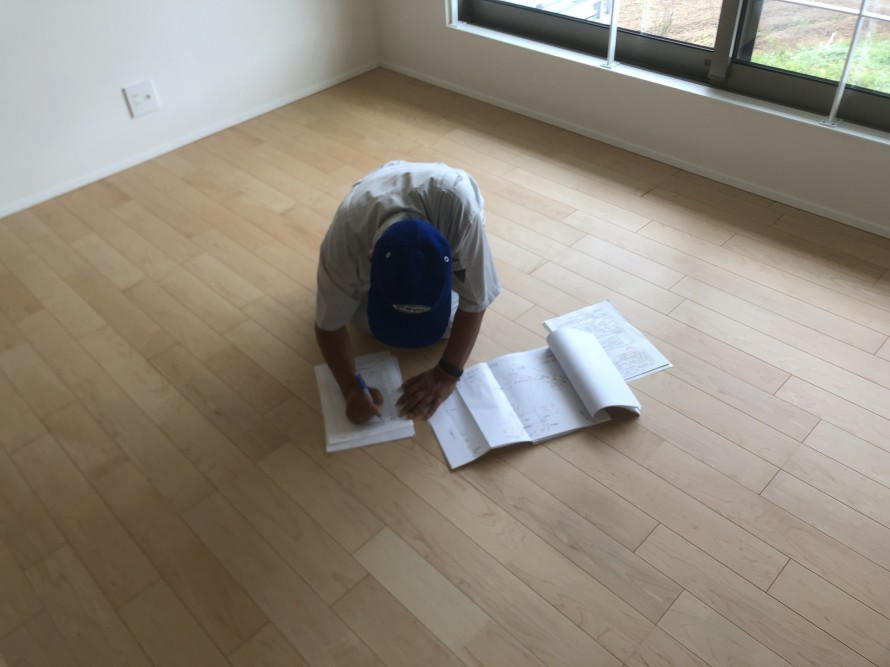 完了検査質疑応答中|郡山市 新築住宅 大原工務店のブログ