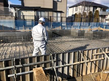 鉄筋検査の様子です。|郡山市 新築住宅 大原工務店のブログ