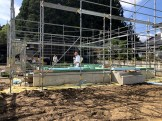 土台入れの様子です。須賀川市泉田S様邸| 郡山市 新築住宅 大原工務店のブログ