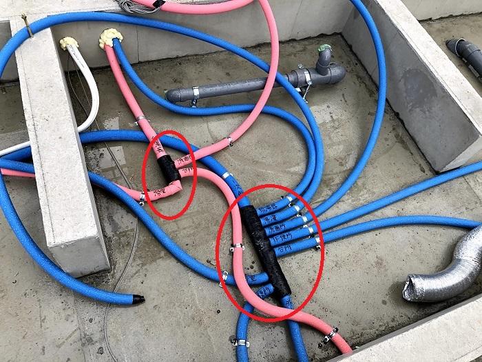 ヘッダー管の確認です 郡山市安積町 |郡山市 新築住宅 大原工務店のブログ