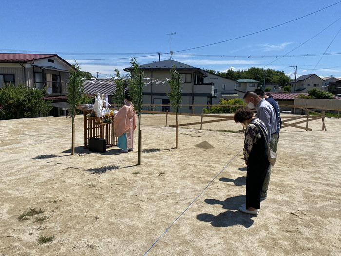 地鎮祭が執り行われました。須賀川市森宿  郡山市 新築住宅 大原工務店のブログ