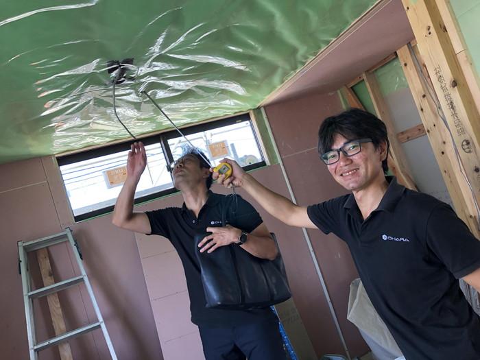 防湿、気密検査です、|郡山市 新築住宅 大原工務店のブログ