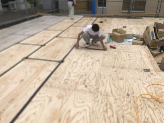 土台入れの写真です。 郡山市 新築住宅 大原工務店のブログ