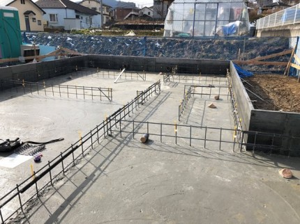 べた基礎のコンクリート打設完了です。|郡山市 新築住宅 大原工務店のブログ