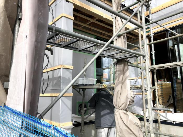 外壁施工進んでおります。福島県二本松市| 郡山市 新築住宅 大原工務店のブログ
