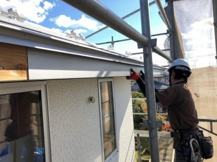 ガルバリウム鋼板の破風取付です。|郡山市 新築住宅 大原工務店のブログ