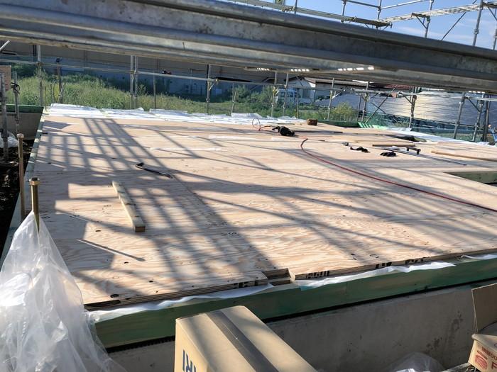 床の敷き込みです。|郡山市 新築住宅 大原工務店のブログ