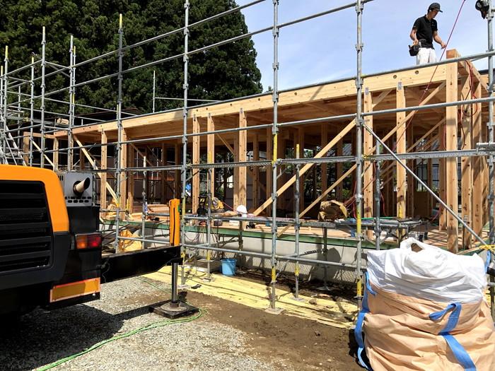 棟上げの様子です。須賀川市泉田S様邸| 郡山市 新築住宅 大原工務店のブログ