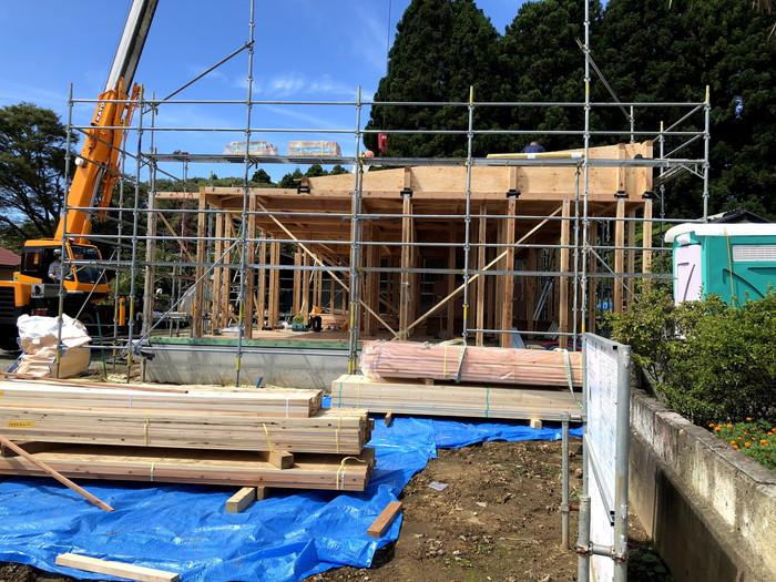 棟を上げていきます。須賀川市泉田S様邸| 郡山市 新築住宅 大原工務店のブログ
